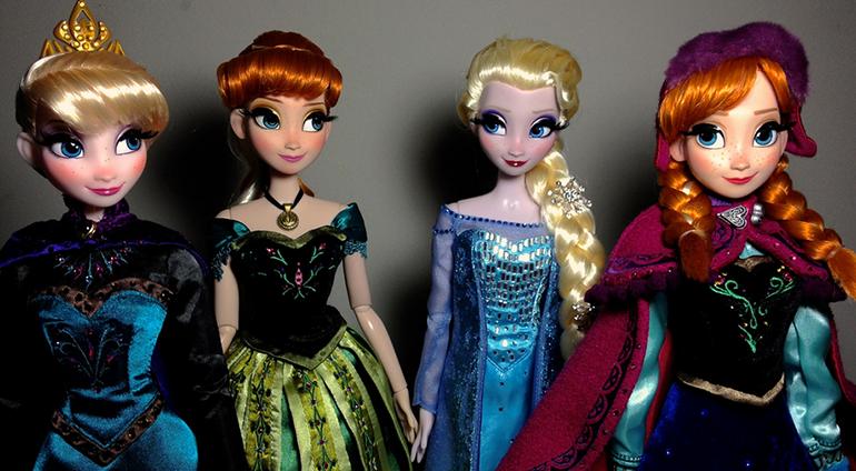 Jocuri de fete, jocuri copii 4 ani, costumam pe Anna si Elsa,surorile din regatul de gheata